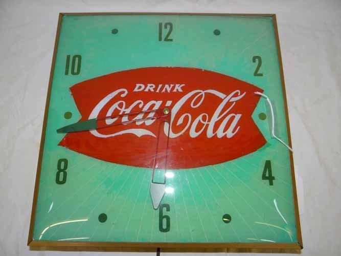 Fishtail Coca Cola Clock