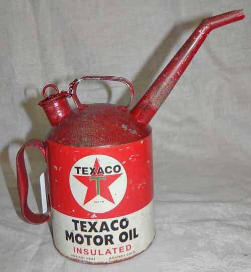 Texaco Motor Oil Can