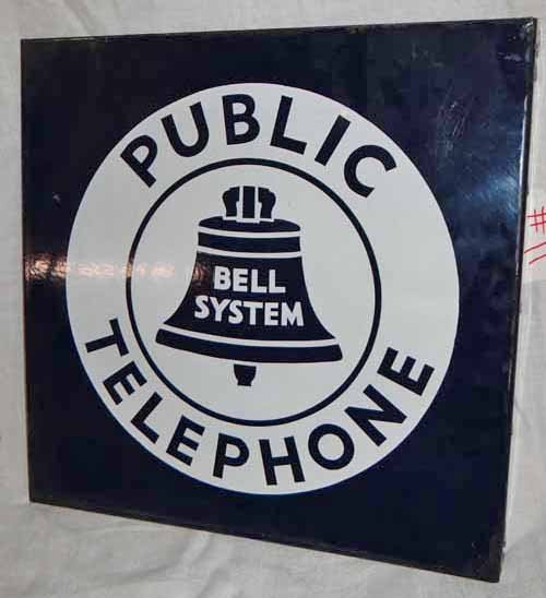 Public Telephone Bell System Sign