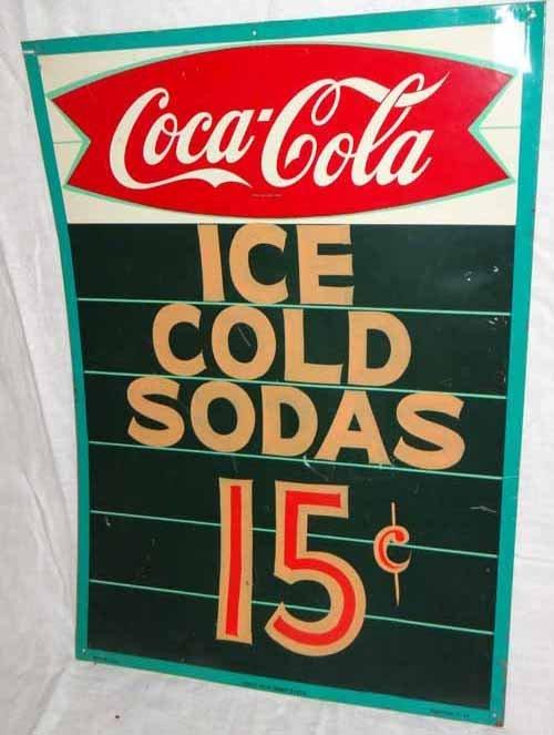Coca Cola Tin Menu Board