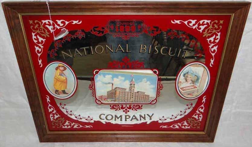 National Bisquit Advertising Mirror