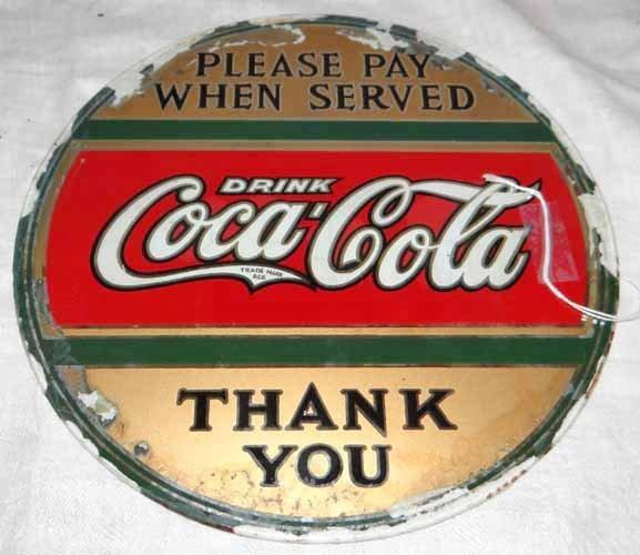 """Coca Cola""""Thank You"""" Sign"""