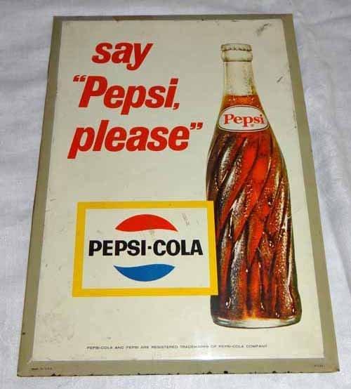"""""""Say Pepsi Please"""" Tin Sign"""