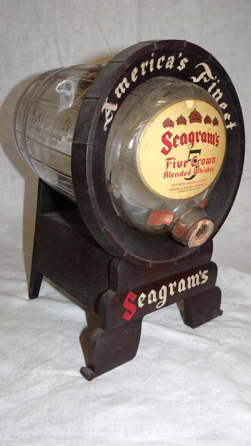 Seagram's 5 Crown Blended Whiskey Dispenser Keg