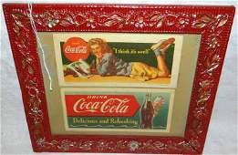 (2) 1951 Coca Cola Blotters Framed