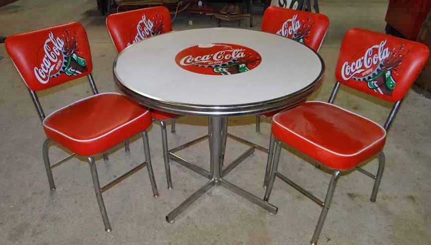 Coca Cola Table Chair Set Lot 0311
