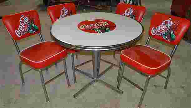 Coca cola table chair set - Coca cola table and chairs set ...