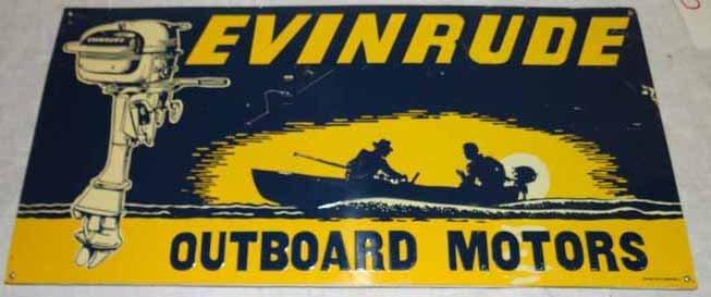 Evinrude Tin Sign