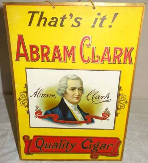Abram Clark Cigar Display