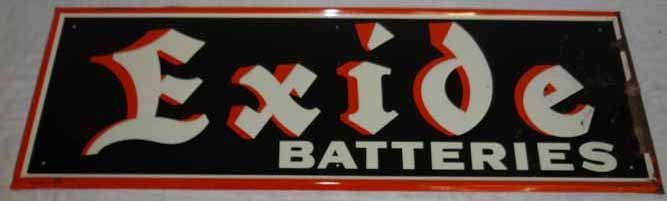 Excide Battery Tin Sign