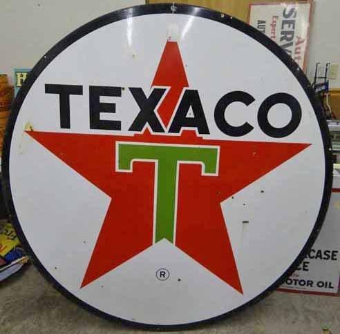 Texaco Round Sign