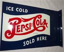 Repro Tin PepsiCola Flange Sign