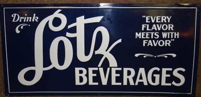 """Tin """"Drink Lotz"""" Beverage Sign"""