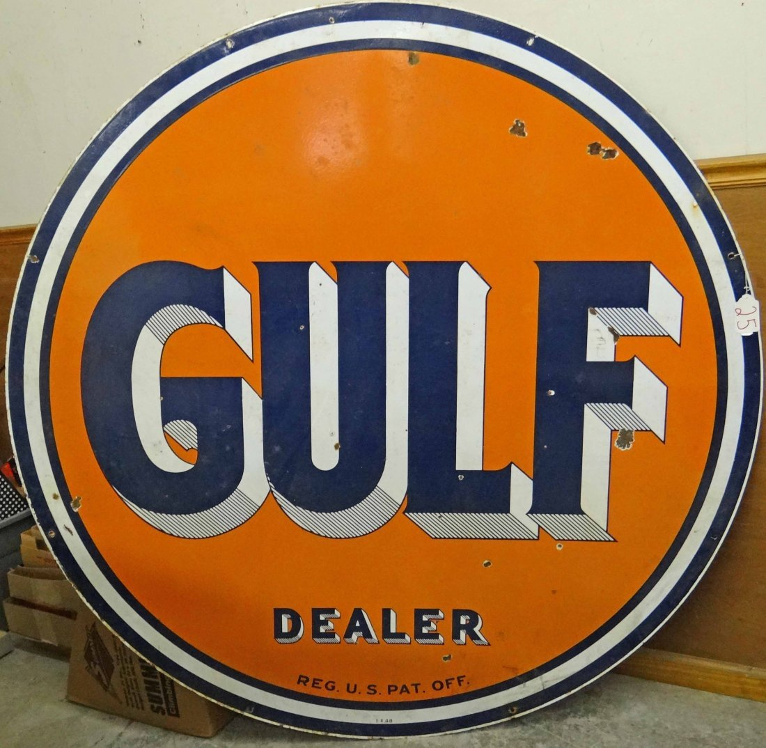 Gulf Dealer Dbl Sided Sign