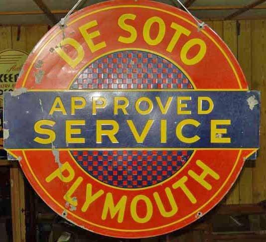 Desoto Plymouth Sign