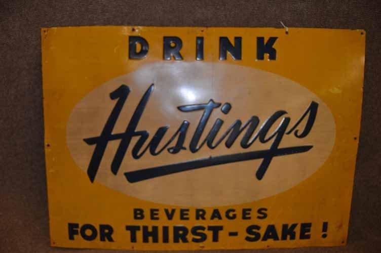 Hustings Beverages Sign