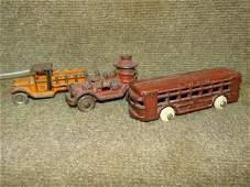 (3) Cast Iron Vehicles