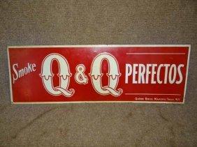 Q & Q Cigar Sign
