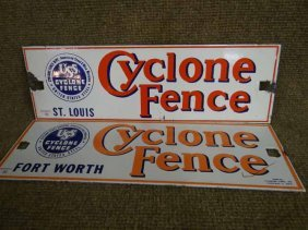 (2) Cyclone Fence Signs
