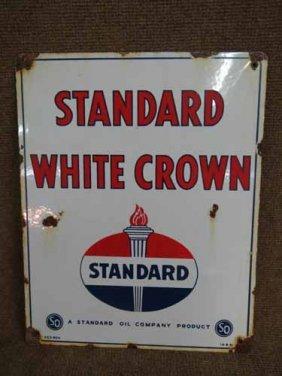 Standard White Crown Pump Sign