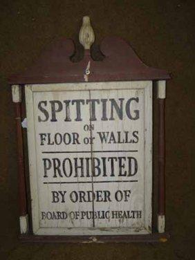 """spitting"" Sign"