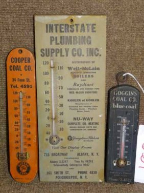 (3) Wooden Thermometers
