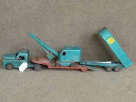 Structo Steel Truck W/shovel & Trailers
