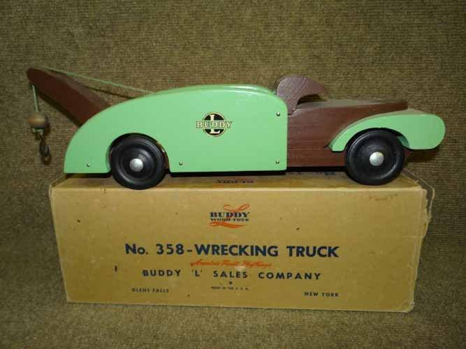 "Buddy L Wood ""Wrecking Truck"""