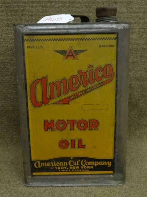 Americo Motor Oil Can