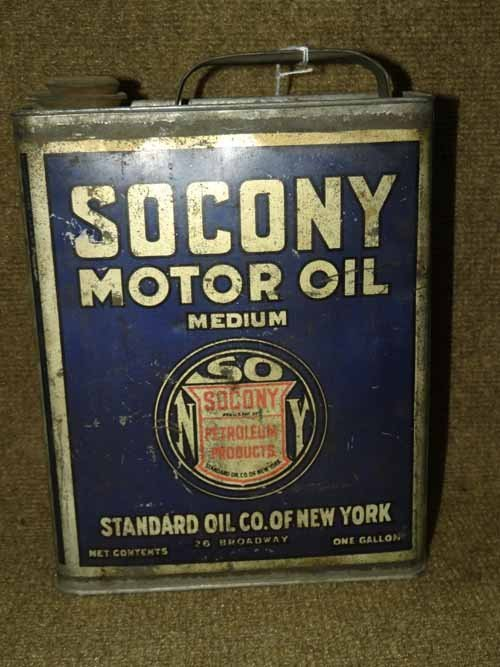 Socony Oil Can