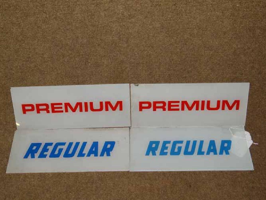 (4) Reverse Ptd Gas Pump Signs