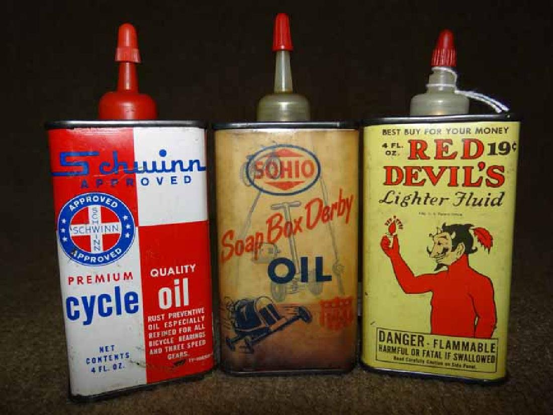 (3) Small Handy Oiler Cans