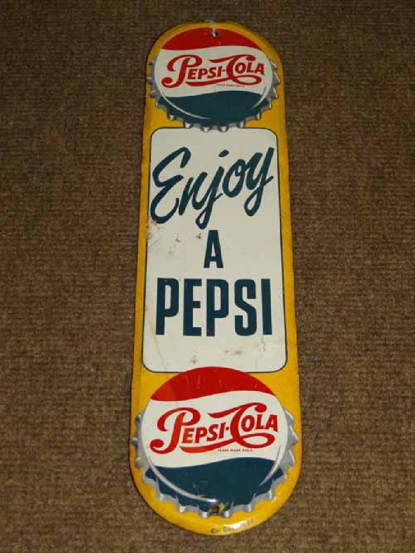 "Tin 1954 ""Enjoy Apepsi"" Door Push"