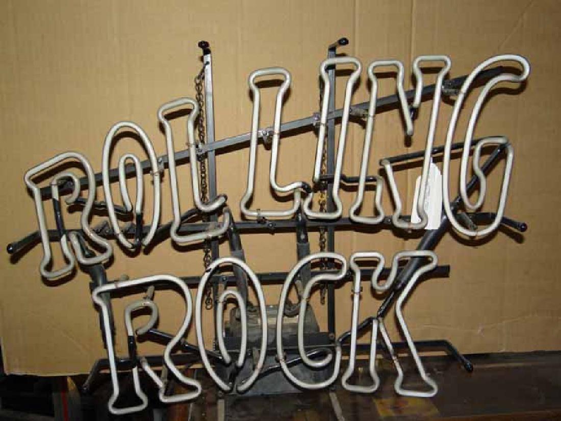 Rolling Rock Neon Advertiing Light