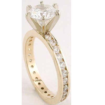 6: 1.65 ctw Diamond ring SI2 - J; EGL appraised