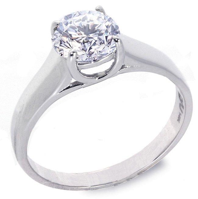 13: 0.86 ct D/SI1 round Diamond solitire ring