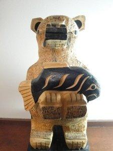 19: Native Bear Sculpture by Cecil Dawson