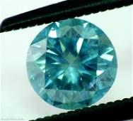 83: 0.67 ct Greenish Blue Si1 Round Natural Diamond
