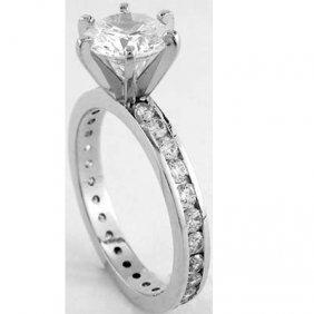 1.65 Ctw Diamond Ring SI2 - J; EGL Appraised