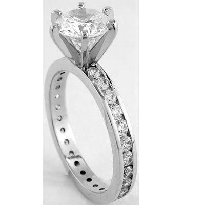 1: 1.65 ctw Diamond ring SI2 - J; EGL appraised