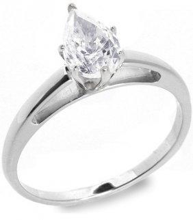 3: 1.01 ctw E/VS2 Pear diamond solitire ring