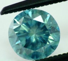 9: 0.67 ct Greenish Blue Si1 Round Natural Diamond