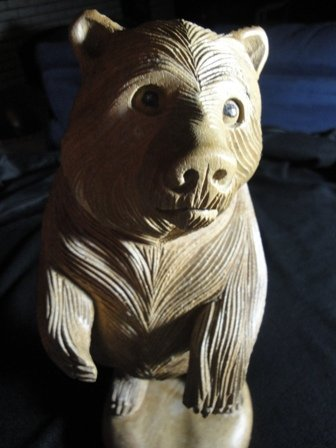 20: Wooden hand carved Bear