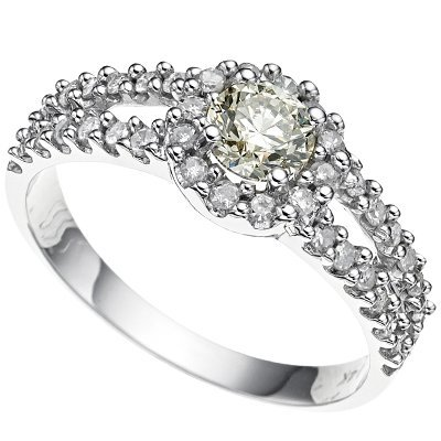 9: 0.84 ct Diamond SI1/G solid gold ring
