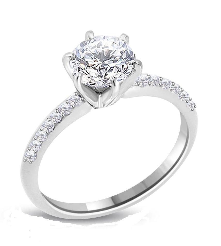 20: Diamond Solitaire Ring - 1.11 ct - G / VS2