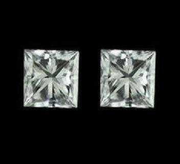 135: Princess Diamond Pair  0.67 ct - GIA