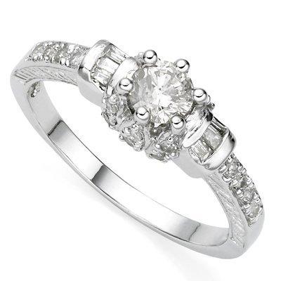 Half Carat Diamond solid gold ring