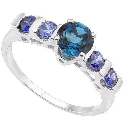 1.12 ct Blue Diamond - (VS) & Tanzanite ring