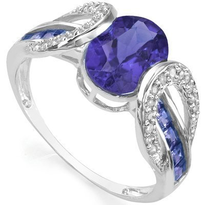 1.60 ct Tanzanite & Diamond Gold ring