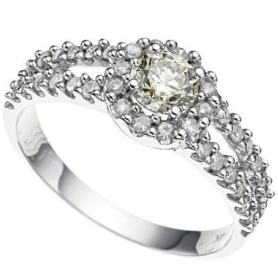 0.84 ct Diamond SI1/G solid gold ring